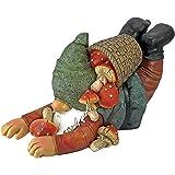 Garden Gnome Statue - Clumsy Karl the Mushroom Hunter Garden Gnome - Lawn Gnome