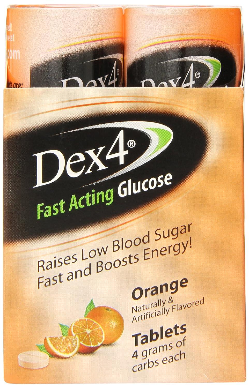 Dex4 Glucose Tablets, Orange, 10 Count Pack of 6