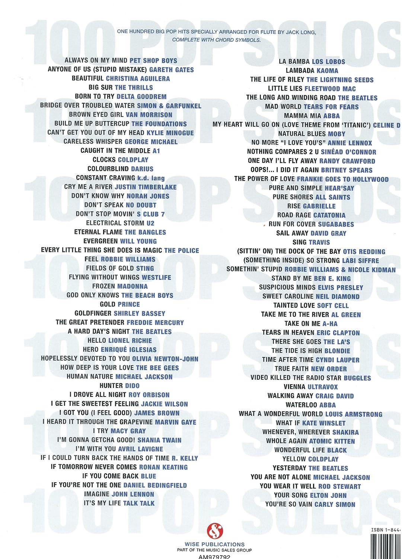 100 More Pop Solos For Flute - Partituras para Flauta 100 Pop Canciones especialmente Arreglados de Jack Long para flauta con el completa acorde símbolos: ...