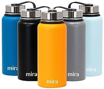 Amazon.com: MIRA Botella de agua de boca ancha aislada al ...