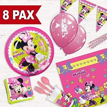 Pack Fiesta de cumpleaños Minnie Mouse para 8 Personas: Amazon.es: Juguetes y juegos