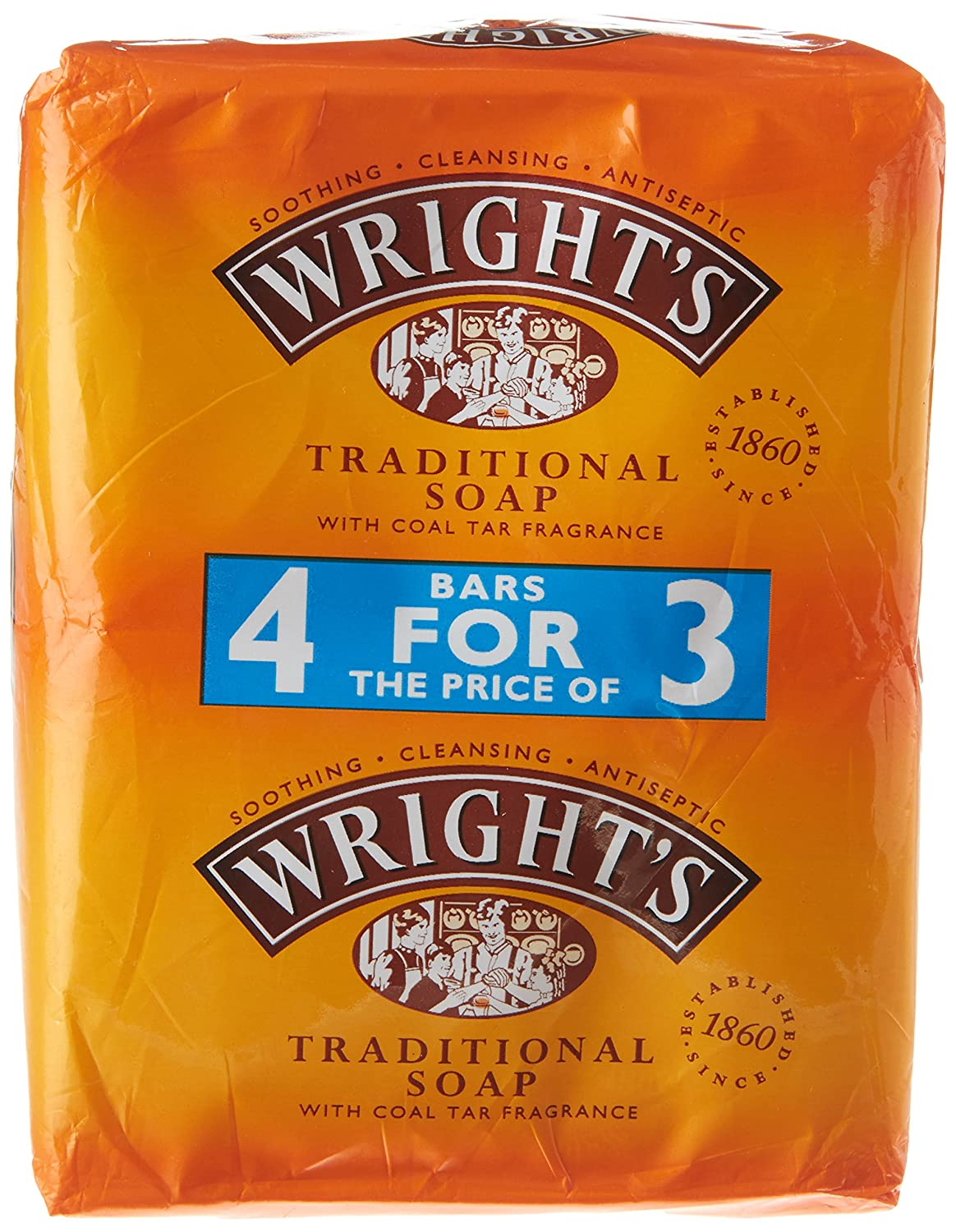 WRIGHT'S Traditional Soap With Coal Tar Fragrance Accantia 002629