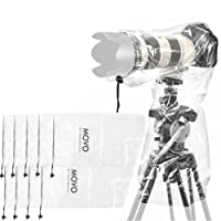 Movo (10 Pack) RC1 Clear Rain Cover for DSLR Camera and Lens up to 46cm Long