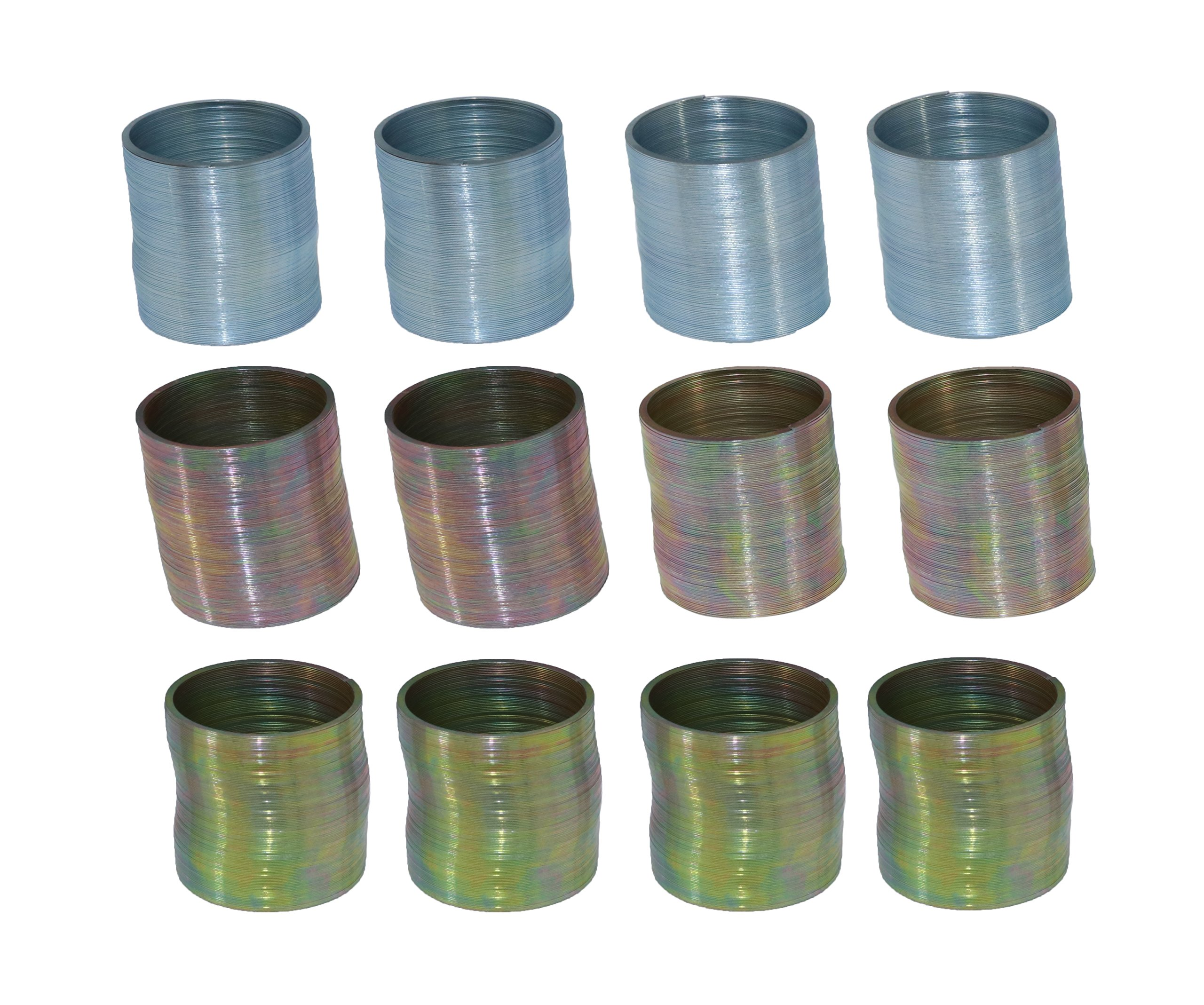Mini Metal Coil Spring Toy - Pack Of 12 1 Inch Slinky Party Favors