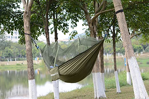 Sleeping Bags Sports & Entertainment Humble High Strength Parachute Nylon Fabric Camping Single Parachute Hammock With Strong Rope For Camping Hiking Travel