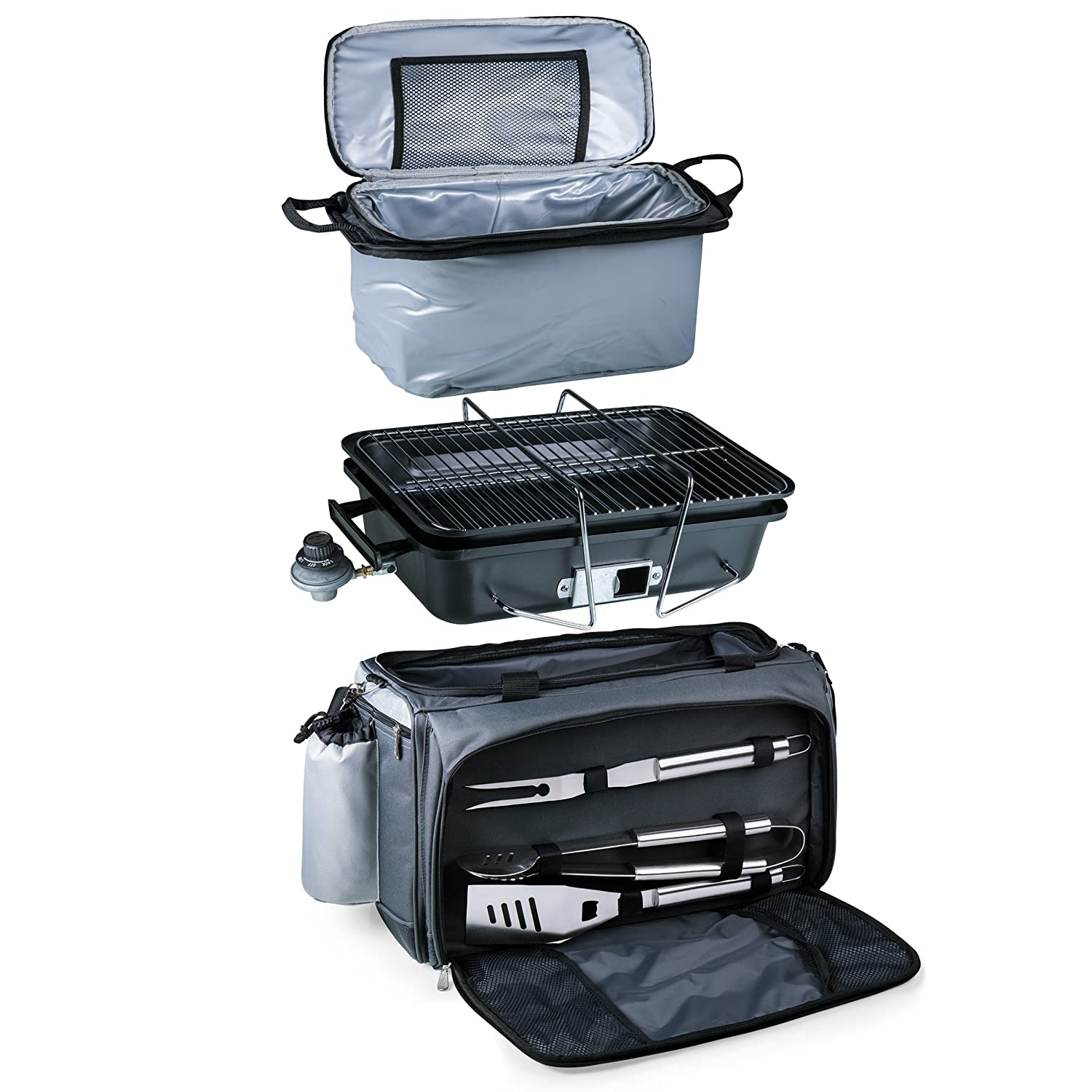 a Picnic Time Brand Vulcan All-In-One Tailgating Cooler//BBQ Set 770-00-175-000-0 ONIVA