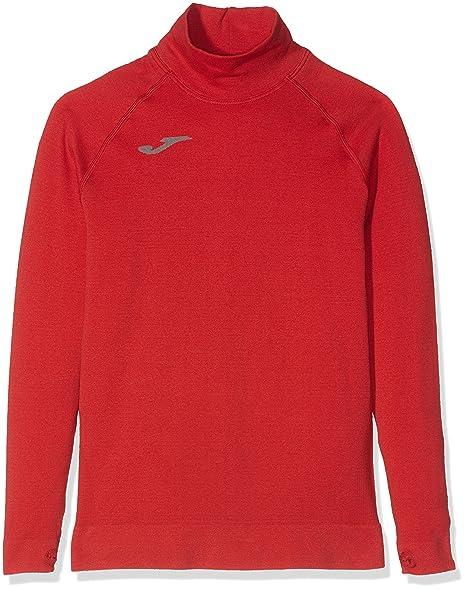 Joma Brama Classic - Camiseta térmica para niños, color rojo, talla 4-6