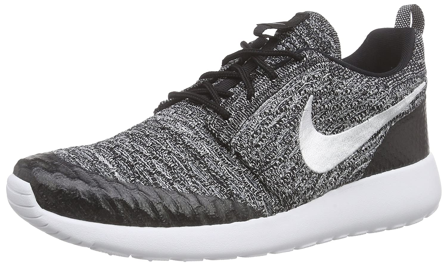 sale retailer e2e63 a3341 Amazon.com   Nike Womens WMNS Roshe One Flyknit Black White-Cool Grey  Synthetic Size 10   Road Running