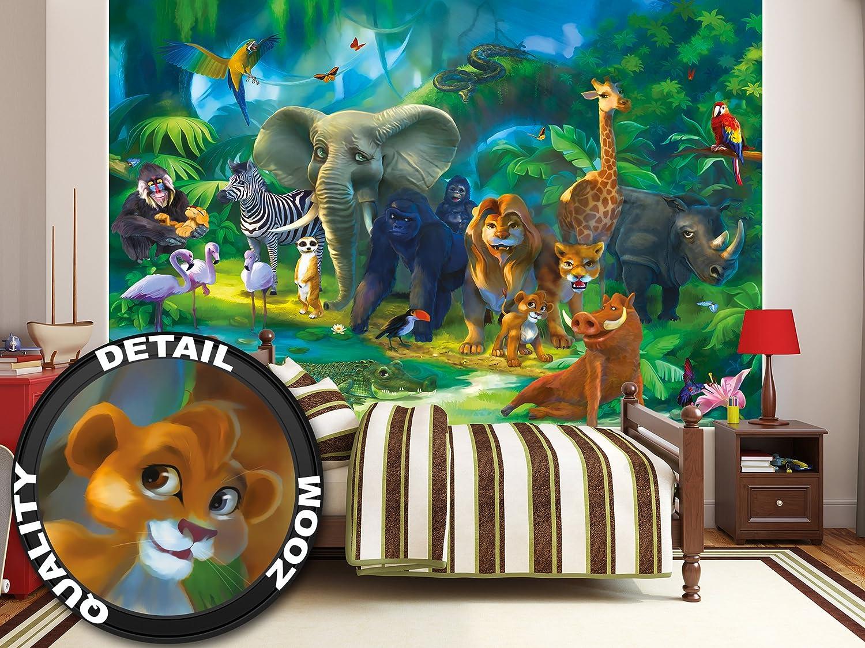 Jungle animaux papier peint de photo   safari tableau mural   xxl ...