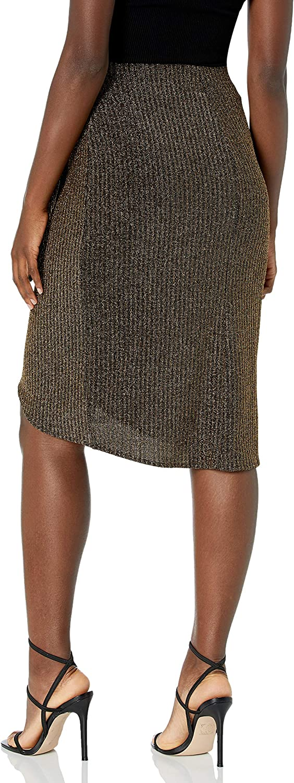 Show Me Your Mumu Damen Anjolie Wrap Skirt Strickrock Gold Me Up Stripe