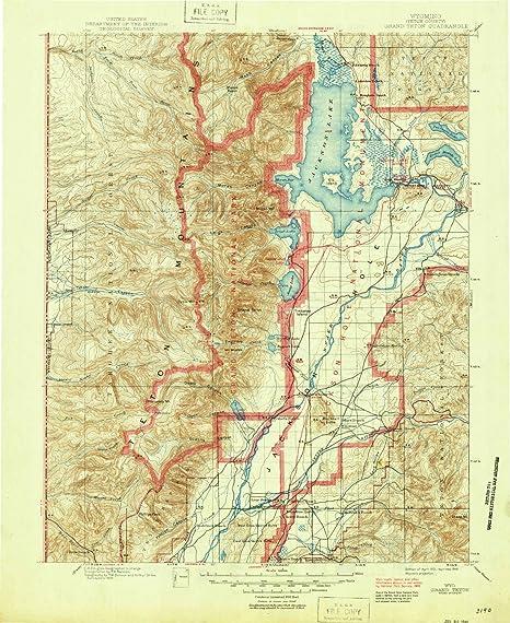 Amazon.com: YellowMaps Grand Teton WY topo map, 1:125000 scale, 30 X ...