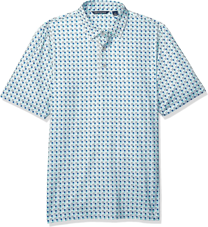 Cutter & Buck Men's Drytec UPF 50 Lightweight Pike Checkerboard Print Polo Shirt