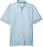 Cutter & Buck Men's Drytec UPF 50 Lightweight Pike Checkerboard Print Polo Shirt