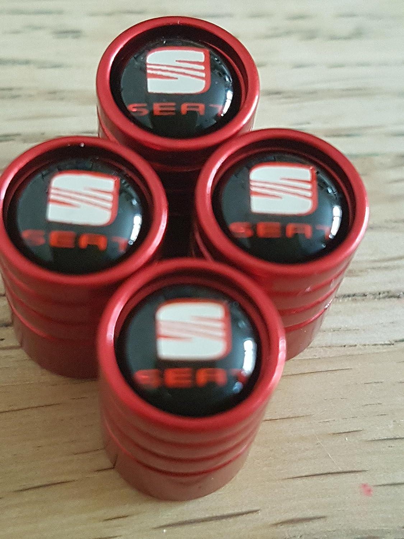 Speed Demons SEAT RED DELUXE car Valve Alloy wheel dust Caps