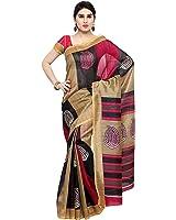 Oomph! Women's Art Silk Saree with Blouse Piece