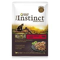 True Instinct High Meat Pack de 8 Fillets avec Bœuf/Légumes pour Chat 70 g