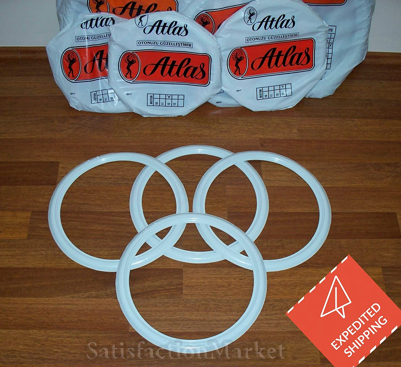 ATLAS 15 For Motorcycle White Tire Wall Portawall Insert Trim Set 4pcs