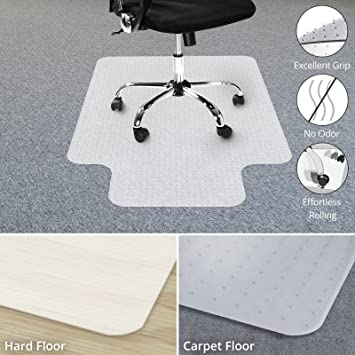 chair mat with lip. Chair Mat With Lip For Carpets | Low / Medium Pile Computer Floor Protector C