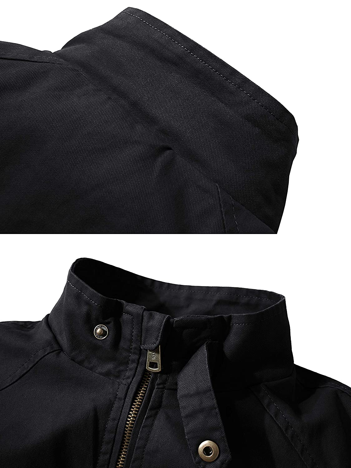 WenVen Mens Casual Military Jacket