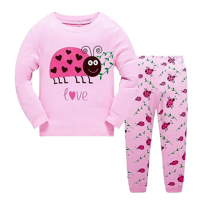 0a6da2ef2 Kids Baby Girls Pyjamas Set Horse Giraffe Nightwear Sleepwear ...