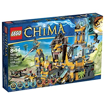 Amazon.com: LEGO Chima 70010 The Lion CHI Temple (Discontinued by ...