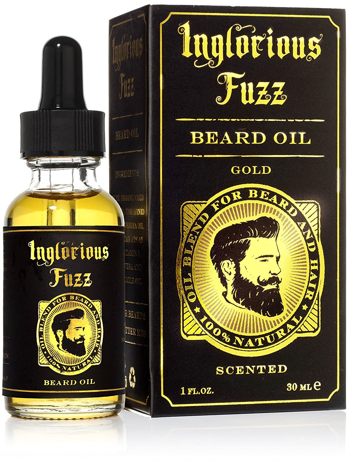 All New Inglorious Fuzz - Scented Beard Oil (Gold) Ollexir
