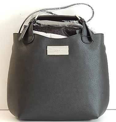 5c2de3755fb Dkny Donna Karan Saffiano Leather Black Bag Satchel Purse: Handbags ...