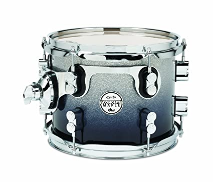 Amazon com: Pacific Drums PDCM0810STSB 8 x 10 Inches Tom with Chrome