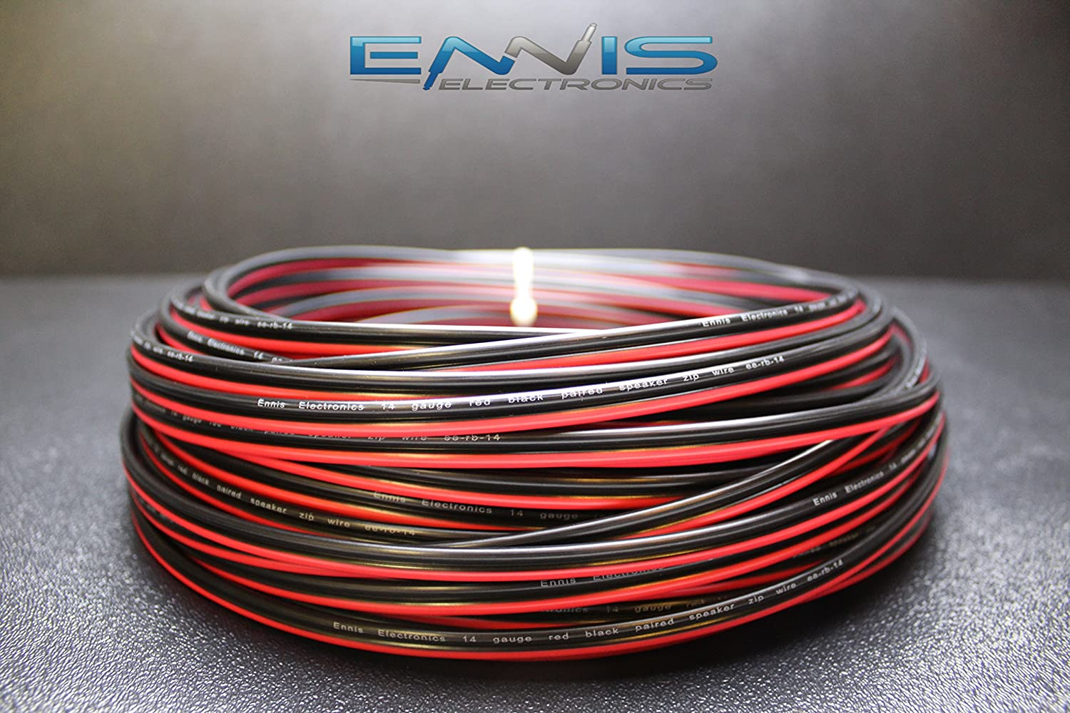 10 GAUGE 50 FT RED BLACK ZIP WIRE AWG CABLE POWER GROUND STRANDED COPPER CLAD EE
