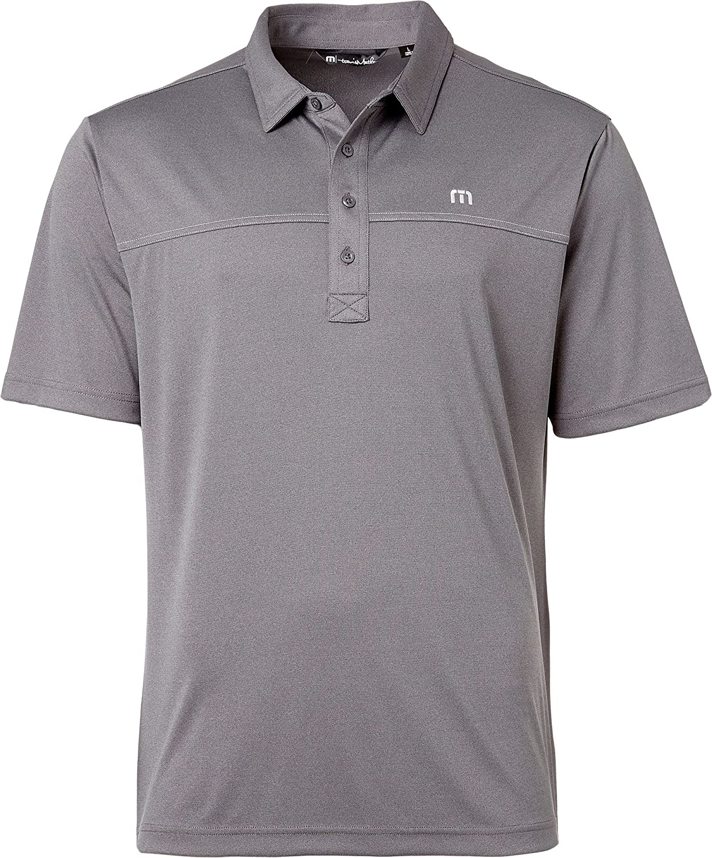 21be665c5 Amazon.com: Travis Mathew Men's Player Golf Polo (Quiet Shade/Black,Large):  Sports & Outdoors