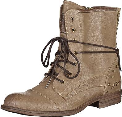 Mustang Damen Stiefelette Beige (Taupe), Schuhgröße:EUR 38