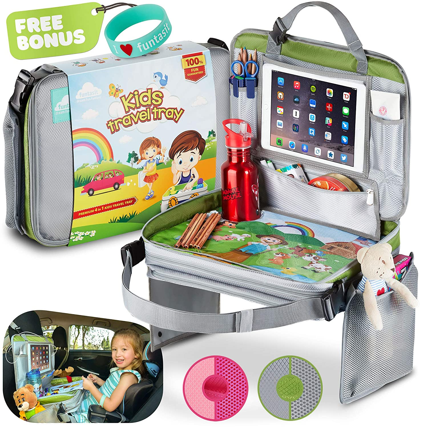 funtasit Kids Travel Tray All-in-One Carry Bag