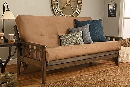 Admirable Kodiak Furniture Kf Tucson Full Size Futon Set In Rustic Walnut Finish Suede Peat Camellatalisay Diy Chair Ideas Camellatalisaycom