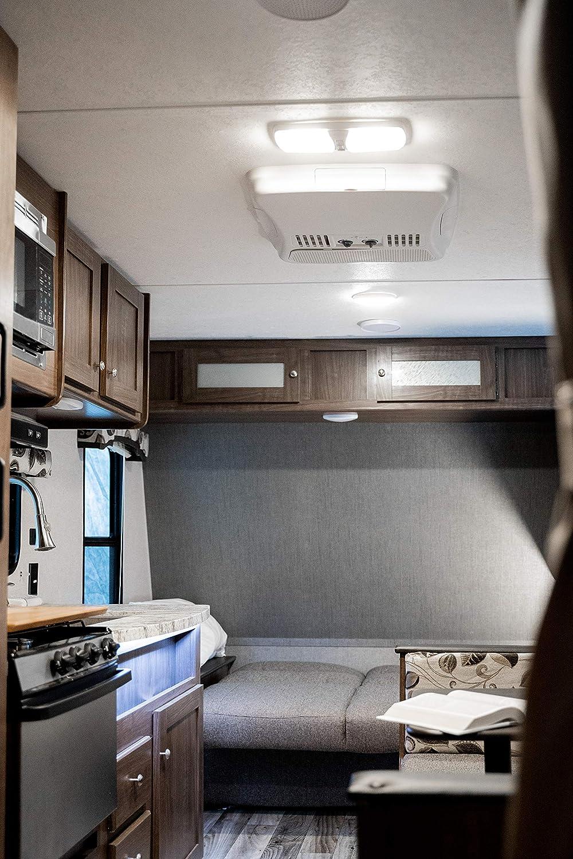 Lumitronics Funda Doble led RV luz de cúpula con Interruptor de 3 Posiciones y extraíble Lentes Interior de Repuesto 12 V iluminación para acople, caravanas, autocaravanas, 5 Ruedas, remolques: Amazon.es: Coche y moto