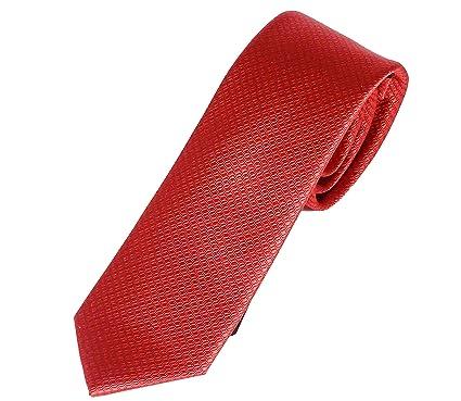 Elegante corbata roja, Pietro Baldini, fabricada a mano, 100% seda ...