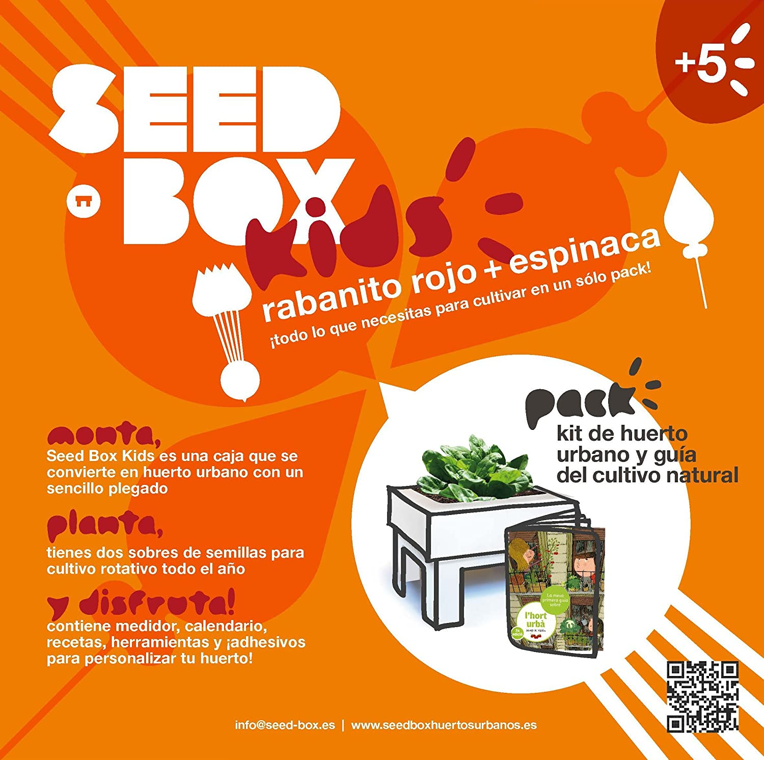 SeedBox Kids - Huerto Urbano para niños, Color Naranja: Amazon.es ...