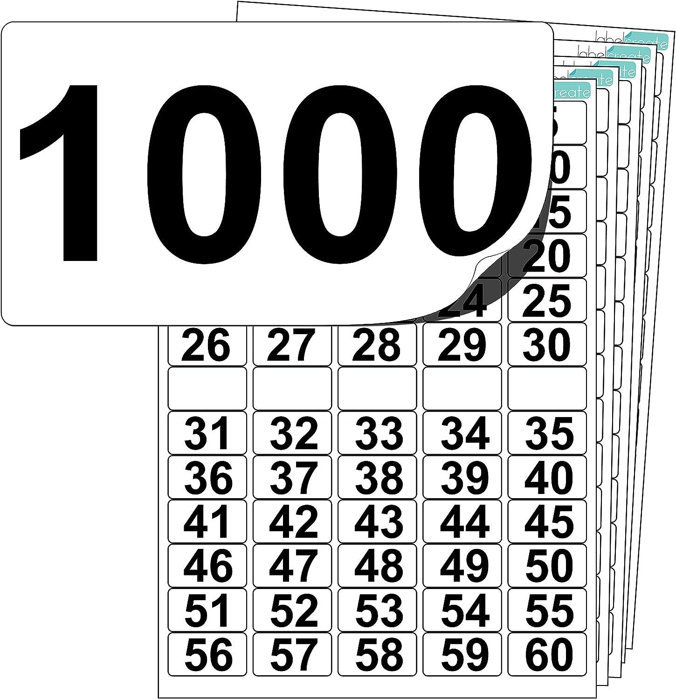+ 10 en Blanco Repuestos Número de Plástico PREMIUM Pegatinas de 1 a 500 Ultra Durable..
