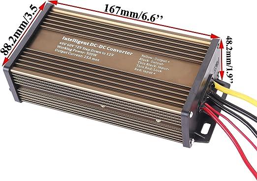 DC-DC Buck Voltage Converter Reducer Regulator 60V//72V//94V//120V to 12V 15A