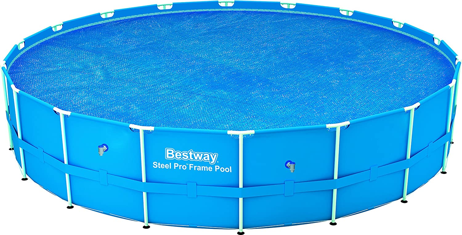 bestway steel frame solar pool cover 18 feet blue ebay. Black Bedroom Furniture Sets. Home Design Ideas