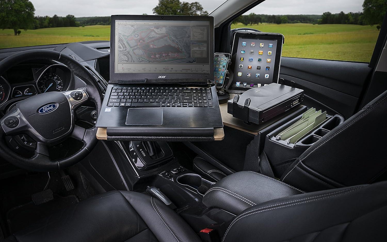 AutoExec AUE10041 Reach Front Seat Car Desk Birch with Printer Stand