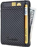 Travelambo RFID Front Pocket Minimalist Slim Wallet Genuine Leather Small Size