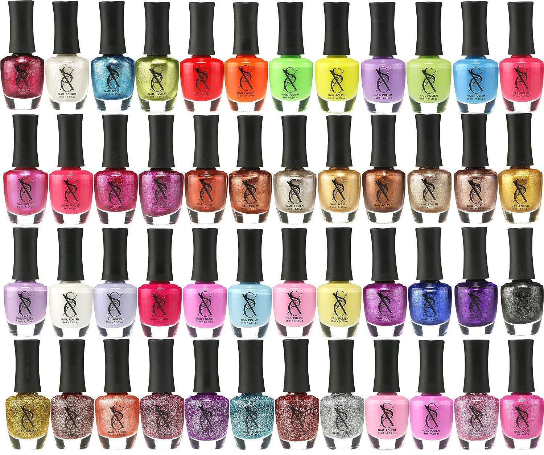 Metallic Nail Varnish Sets: SXC Cosmetics Nail Polish Set