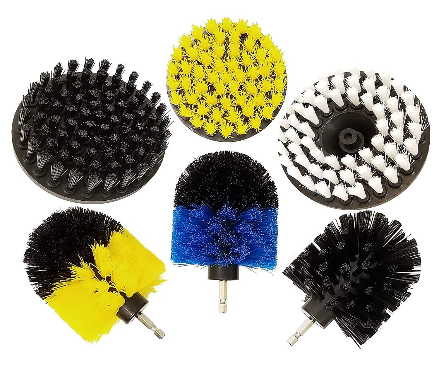 Multi-Purpose Drill Brush Attachment for Cleaning - All in One Power Scrubber Brush