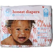 The Honest Company Honest Disposable Baby Diapers, Multi Colored Giraffes, Size 4, 29 ct