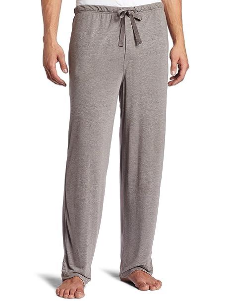 intimo Soft Knit Pajama Sleep Pant, Pantalón de Pijama para Hombre, Charcoal Gray,