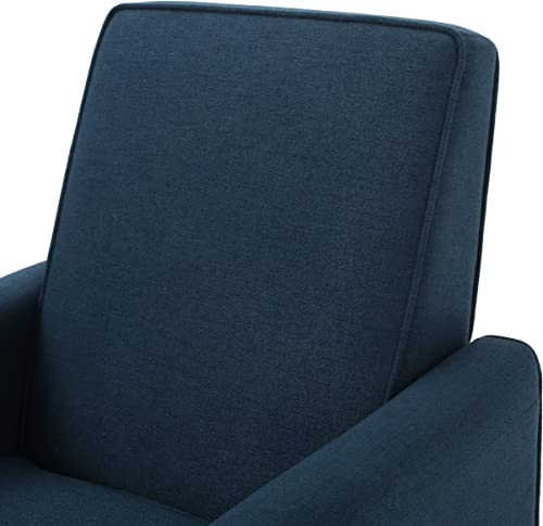 Jeffrey Dark Blue Fabric Recliner Club Chair