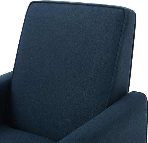 Best living room chair: Jeffrey Dark Blue Fabric Recliner Club Chair