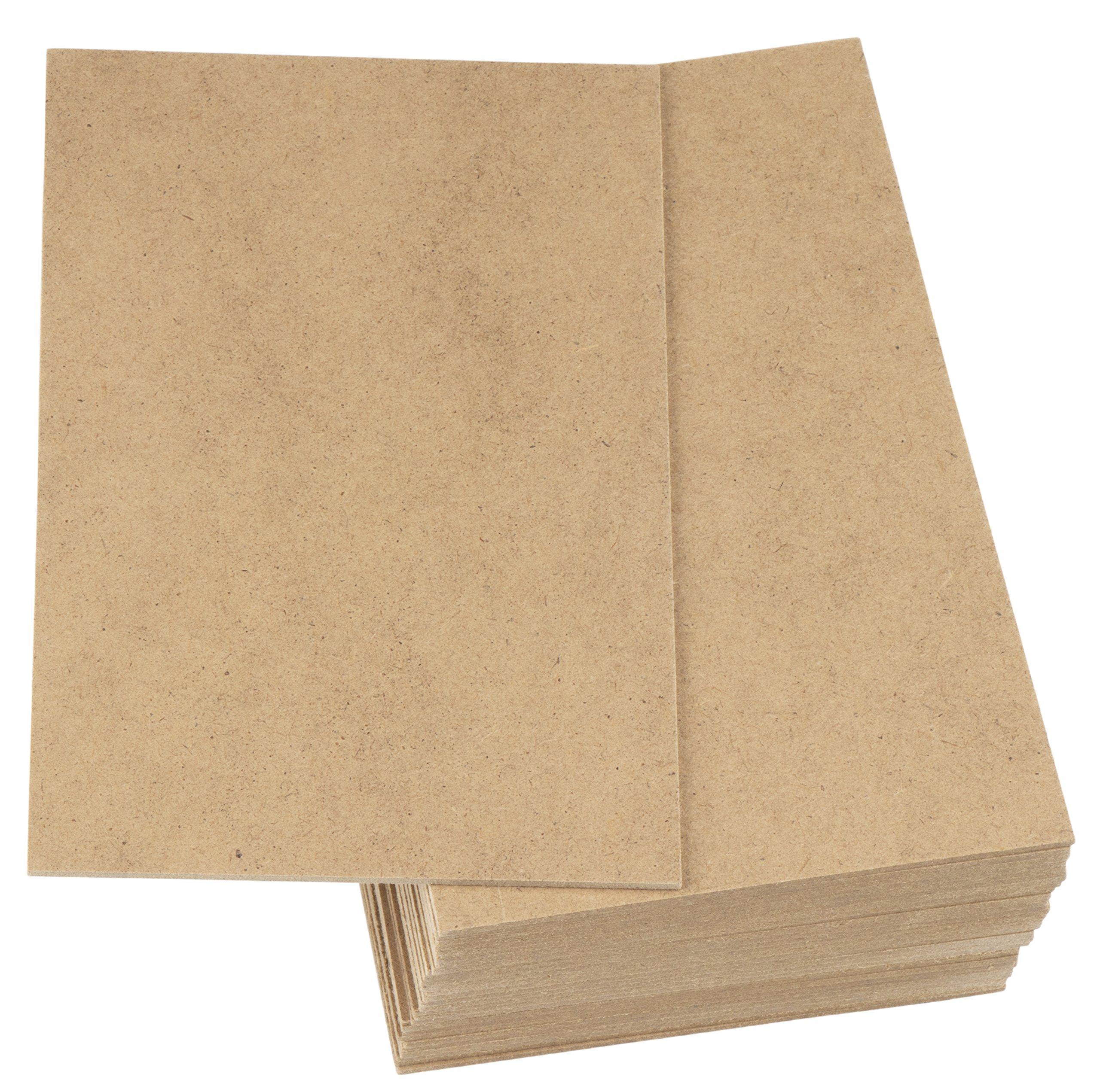 MDF Board - 30-Pack Wood Board, Medium Density Fibreboard, Hardwood Board, Brown, 5.875 x 7.875 x 0.0625 inches