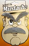 Old Man 3 Piece Self Adhesive Facial Hair Set Grey Moustache & Eyebrows