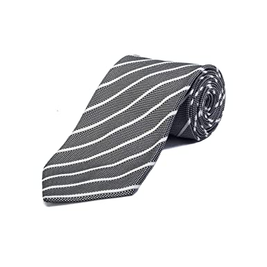 d2811aebdb4b4 Image Unavailable. Image not available for. Color: Ermenegildo Zegna  Couture Men's Silk Striped Tie ...